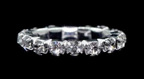 Rings #15398 Single Row Stretch Rhinestone Ring