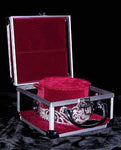 Tiara Bags & Cases Tiara and Crown Case - Burgundy Interior with Strap