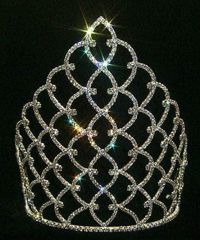 "Tiaras & Crowns over 6"" 10"" Traditional Rhinestone Queen Crown - Gold  #11185G"
