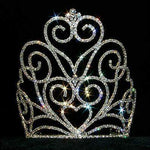 "Tiaras & Crowns over 6"" #12558 Victorian Heart Crown Tiara with Combs - 7"""