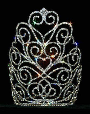 "Tiaras & Crowns over 6"" #12559 Victorian Heart Crown - Large"