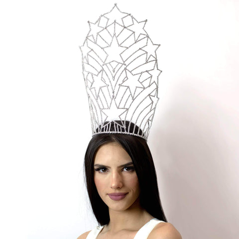 "Tiaras & Crowns over 6"" #12565 Starburst Crown - Large"
