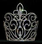 "Tiaras & Crowns over 6"" #12746 - Large Rising Fleur De Lis Crown"