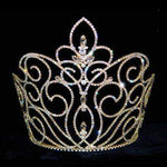"Tiaras & Crowns over 6"" #12746G - Large Rising Fleur De Lis Crown - Gold Plated"