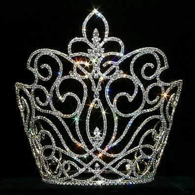 "Tiaras & Crowns over 6"" #12747 Cape Crown Rising Fleur - 10"""