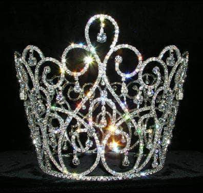 "Tiaras & Crowns over 6"" #13543 - Crystal Waterfall Queen Crown"