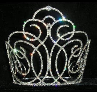 "Tiaras & Crowns over 6"" #13568 - Concierto Swirl Crown - 8"""