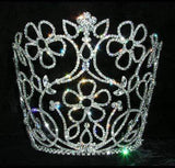 "Tiaras & Crowns over 6"" #13570 Floral Vase Medium Tiara"