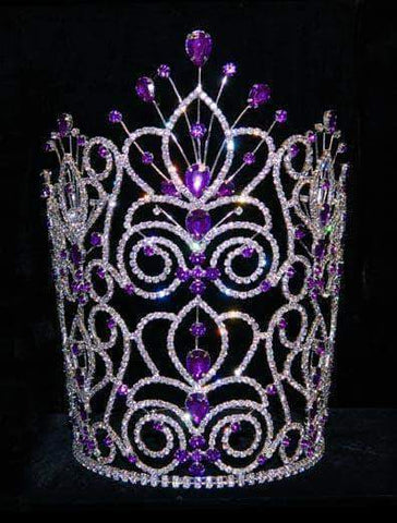 "Tiaras & Crowns over 6"" #16111 - Maus Spray Crown - Amethyst - 10"""
