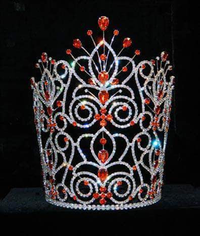 "Tiaras & Crowns over 6"" #16111 - Maus Spray Crown - Hyacinth - 10"""