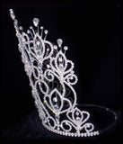 "Tiaras & Crowns over 6"" #16111xs - Maus Spray Crown - Crystal - 10"""