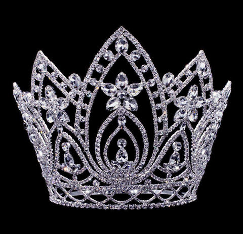 "Tiaras & Crowns over 6"" #16659 Pear Blossom Adjustable Crown - 8"""