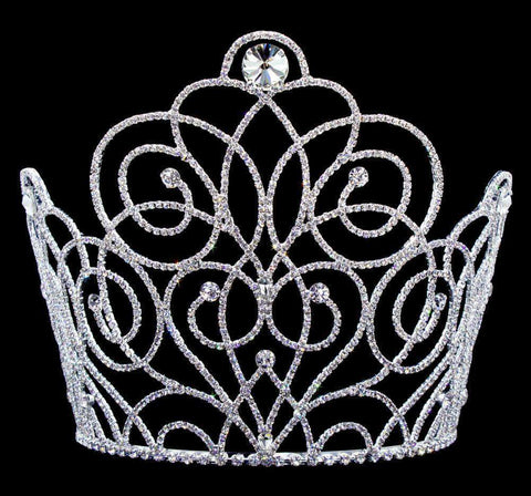 "Tiaras & Crowns over 6"" #16663 - Blooming Twist Tiara with Combs 7"" Tall"