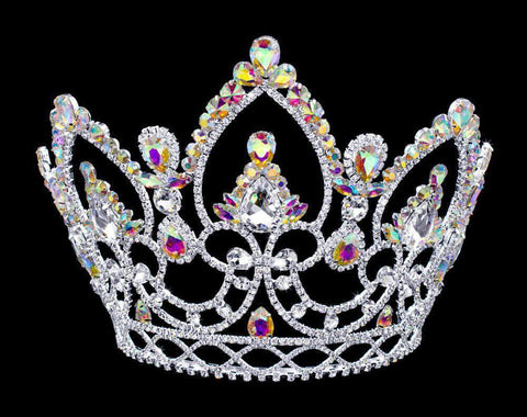 "Tiaras & Crowns over 6"" #16781AB - AB Arch tiara with Combs - 7"""