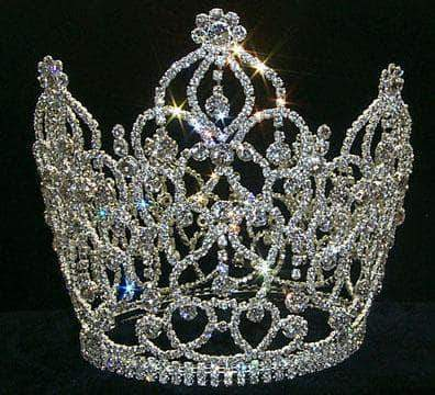 "Tiaras & Crowns over 6"" Crystal Crown with Dangles #10218"