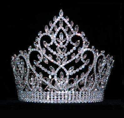 "Tiaras & Crowns over 6"" Navette Topped Crown # 15440"
