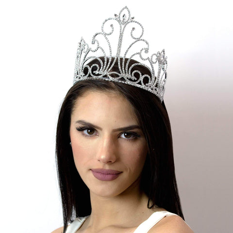 "Tiaras & Crowns up to 6"" #12545 Crystal Fountain Tiara"