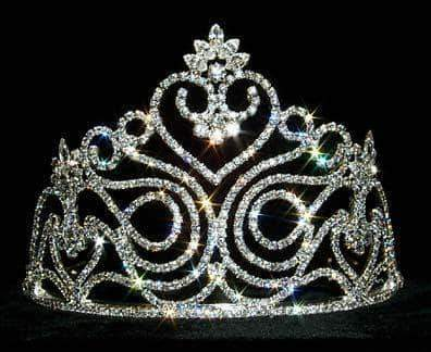 "Tiaras & Crowns up to 6"" #12547 Swirling Heart Tiara"