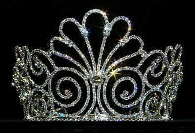 "Tiaras & Crowns up to 6"" #12739 - Water in Lotus Crown"