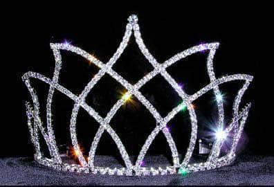 "Tiaras & Crowns up to 6"" #13651 - Flamed Tiara"