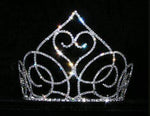 "Tiaras & Crowns up to 6"" #15141 - Swooning Heart Tiara  - 5"""