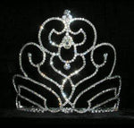 "Tiaras & Crowns up to 6"" #15195 - Blooming Tulip Tiara - 5.25"""