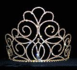 "Tiaras & Crowns up to 6"" #15201G - Titan's Queen Tiara - 5"" Gold Plated"