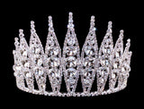 "Tiaras & Crowns up to 6"" #15741 - Large Rivoli Burst Adjustable Crown - 5"" tall"