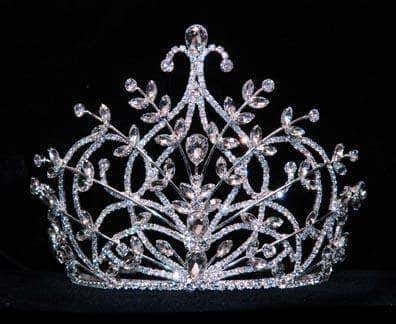 "Tiaras & Crowns up to 6"" #15895 - Small Mediterranean Spray Tiara with Combs - 5"""