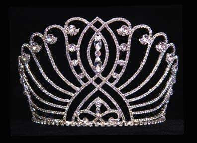 "Tiaras & Crowns up to 6"" #16044 4.5"" Intersecting Scroll Tiara"