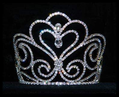 "Tiaras & Crowns up to 6"" #16054 - Sky Princess Tiara with combs - Approx. 5"""