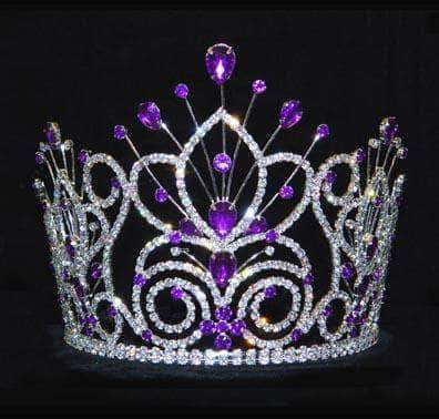 "Tiaras & Crowns up to 6"" #16109 - Maus Spray Crown - Amethyst- 6"""