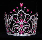 "Tiaras & Crowns up to 6"" #16109 - Maus Spray Crown - Fuchsia- 6"""