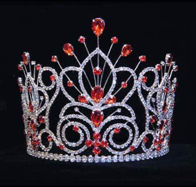 "Tiaras & Crowns up to 6"" #16109 - Maus Spray Crown - Hyacinth - 6"""