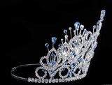 "Tiaras & Crowns up to 6"" #16109 - Maus Spray Crown - Light Sapphire- 6"""
