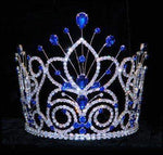 "Tiaras & Crowns up to 6"" #16109 - Maus Spray Crown - Sapphire- 6"""