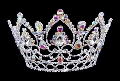 "Tiaras & Crowns up to 6"" #16327abs - AB Arch Tiara with Combs 5.75"""