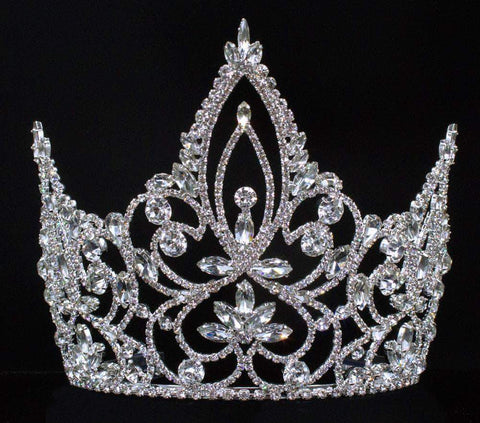 "Tiaras & Crowns up to 6"" #16451 - Pageant Prime Tiara with Combs - 6"""