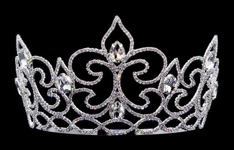 "Tiaras & Crowns up to 6"" #16571 - Flower of The River Tiara with Combs 4.5"" Tall"