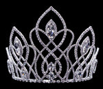 "Tiaras & Crowns up to 6"" #16650 Vaulted Navette Tiara with Combs 5"""
