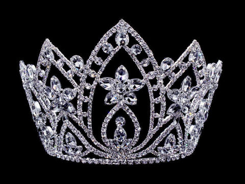 "Tiaras & Crowns up to 6"" #16658 Pear Blossom Tiara with Combs 6"""