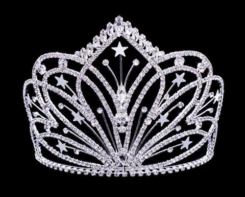 "Tiaras & Crowns up to 6"" #16800 Radiant Starburst Tiara with Combs - 5.25"""