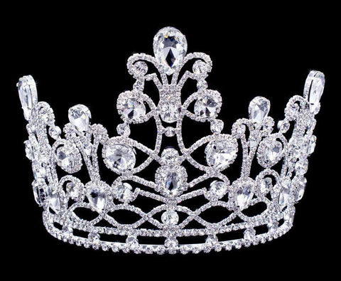 "Tiaras & Crowns up to 6"" #16877 Grand Fountain Tiara with Combs - 5.75"""