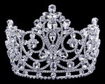 "Tiaras & Crowns up to 6"" #17023 Grandeur Tiara with Combs - 5.5"""
