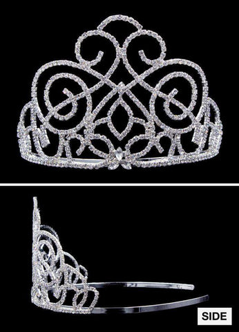 "Tiaras & Crowns up to 6"" #17080 Victorian Class Tiara - 3.5""  (No combs) Limited Quantity"