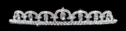 "Tiaras up to 1"" #10842 - Fine Pave European Crystal Tiara"