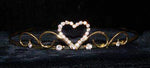 "Tiaras up to 1"" #14687G - Sweet Heart Wire Tiara - Gold Plated"