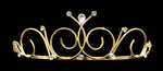 "Tiaras up to 1.25 "" #14697G - Poseidon Princess Wire Tiara - Gold Plated"