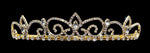 "Tiaras up to 1.25 "" #16232G - Royal Regent Tiara with Combs - Gold Plated"