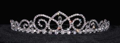 "Tiaras up to 1.25 "" #16238 - Galant Princess Tiara with Combs"